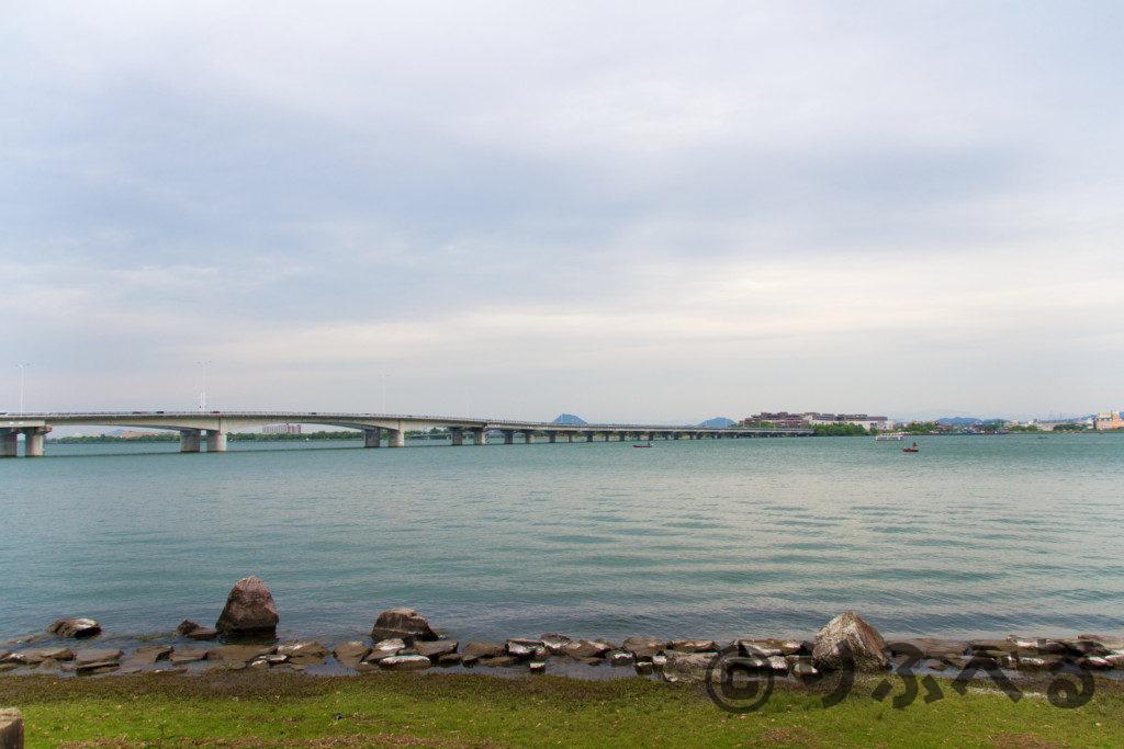 膳所城跡公園からの琵琶湖